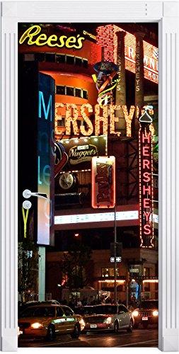 hershey-a-new-york-murale-formato-200x90cm-telaio-della-porta-adesivi-porta-porta-decorazione-autoad