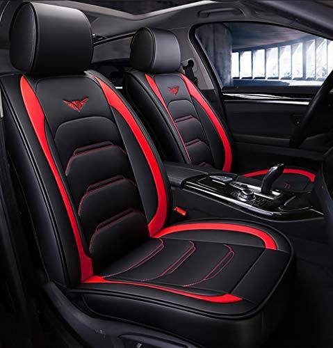 OYDA Neuer Ledersitzbezug Four Seasons Universal-Airbag vorne und hinten, kompatibel mit fünfsitzigen Autositzkissen-3 (Set Mit 3 Accent Stühle)