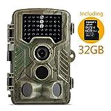 Wildkamera, Coolife 2.4 Zoll LCD Digitalkamera Wasserdichte IP56, 12MP 1080P HD Jagd Kamera 46 PC IR LEDs für Nachtsicht Vision 120 Grad Weitwinkel Scouting Überwachungskamera für Wildtier mit 32G SD Karte.