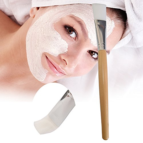 Visage Pinceau Masque, DIY visage boue visage Masques Pinceau Applicateur, Beauty Brosse douce Manche en bois