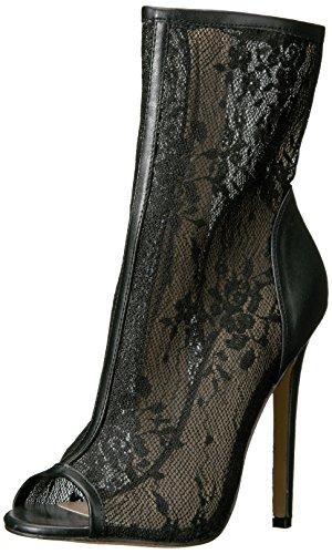 Pleaser SEXY-1008 Stiletto Heel, Open-Toe Stiefelette, Lack-Schwarz, 35-44, Blk Pu-Lace, 42 EU Sexy Open Toe Schwarz