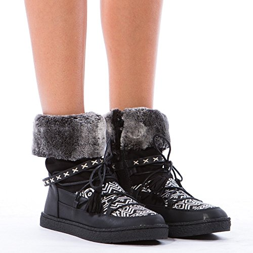 Boots Botas Pretas Ankle E Ideais Sapatos B4ngWTPT