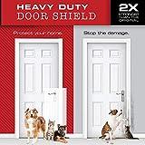 Xelparuc - 2 Protectores de arañazos para Perros Grandes, Resistentes, para Pared, Marco y Puerta