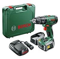 Bosch 06039A3301 Taladro de Percusión a Batería, 27 W, 18 V, Negro, Verde