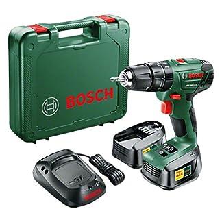 Bosch PSB 1800 LI-2 – Taladro de percusión a batería (2 baterías 18V 1,5Ah, maletín)