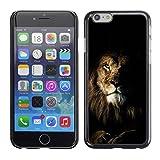 SKCASE Center / Case Cover Handy Schutz Hülle Schale Etui - Natur Mane Roar King Cat - Apple Iphone 6 Plus 5.5