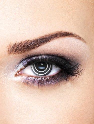 Edit farbige Schwarze Spirale Kontaktlinsen ohne (Verrückte Kontakte Halloween)