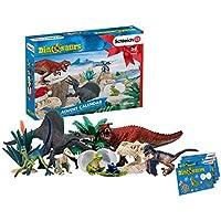 Schleich Dinosaurs Playset Calendrier de l'Avent Dinosaures2019, 97982, Multicolore