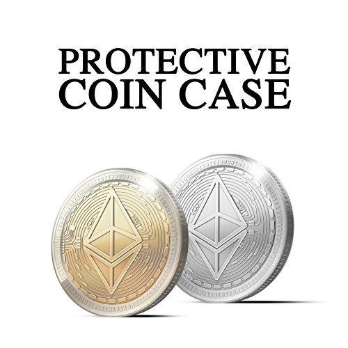 Physische Ethereum Münze mit 24-Karat Echt-Gold überzogen. Wahres Sammlerstück mit Schutzhülle, Münzkapsel. Ein Muss für jeden Ethereum-Fan + GRATIS E-Book gegen Cyber-Attacken - 4