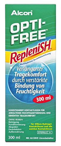 Opti Free Replenish Kontaktlinsen-Pflegemittel, Einzelflasche, 1 x 300 ml