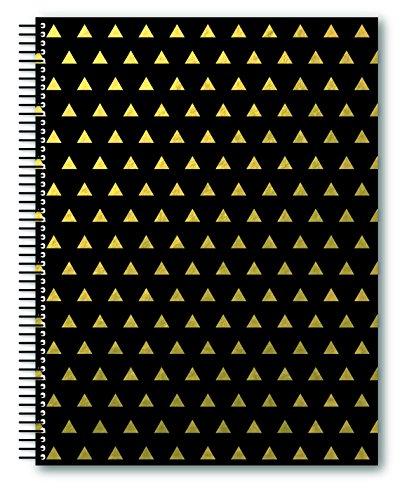 miquelrius-2403-notizbuch-a4-kariert-schwarz-triangulos-golden