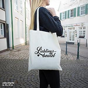 """JUNIWORDS Jutebeutel - Wähle ein Motiv & Farbe - """"Origami Herz"""" (Beutel: Khaki, Motiv: Weiß)"""
