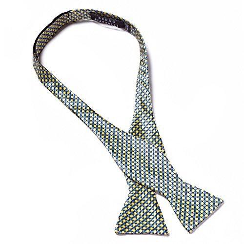Bruno PIATELLI Bindeanleitung Fliege aus Seide Gr. One size, Mehrfarbig - Yellow/Blue - Yellow Bow Für Tie Self Krawatten Männer