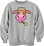 Cute cartoon cow logo Unisex Sweater