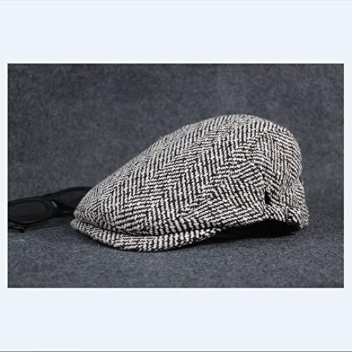 ERKEJI Flache Kappe, Herren Frühjahr, Herbst und Winter Hüte englischen Karo Barette -