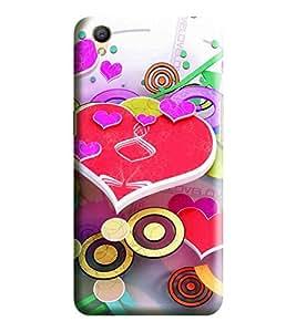 Hi-me Designer Phone Back Case Cover Oppo A37 :: Neo 9 ( Beautiful Creative Techno Heartly Love )