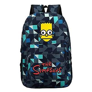 The Simpsons Casual Mochilas Escolares para Mujeres y Hombres Popular Mochila de Viaje Moda Mochila para Deportes al Aire Libre Senderismo Bolsa