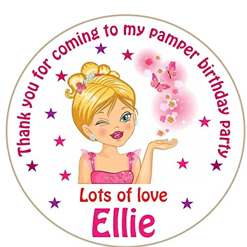 a4-sheet-of-round-personalised-girls-pamper-birthday-party-favour-labels-stickers-15-x-51mm-labels