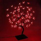 PMS Arbol luminoso Led, 72 Leds luz de hadas, Arbol de Navidad, Para la decoración del hogar, Fiesta, Navidad, Vacaciones, Bodas, Cumpleaños, Año Nuevo (Rojo)