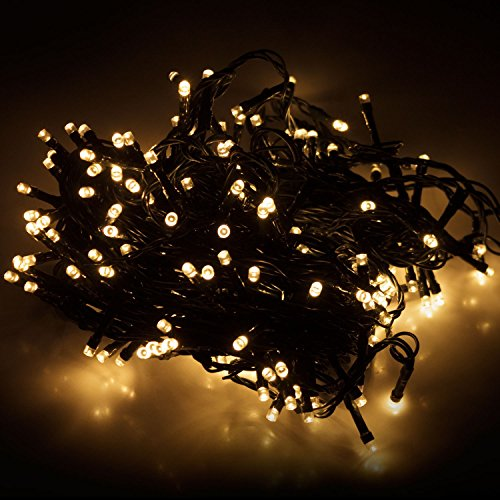 Multistore 2002 LED Lichterkette mit 320 LEDs Warmweiß | Beleuchtung für Innen & Außen | Garten Dekoleuchte Weihnachtsdekoration (Gesamtlänge: ca. 27 m)
