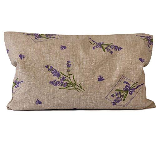 cm, Sorgenfrei + Bio Inlett natur   Bio-Lavendelblüten   Duftkissen Kräuterkissen ()