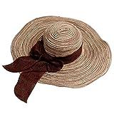 Imported Women Beach Hat Derby Cap Wide Brim Floppy Fold Summer Straw Hat