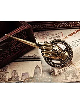 Vintage-Brosche, Design: Game of Thrones Hand des Königs, Reversnadel, Replik, für Kostüm