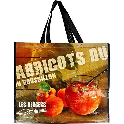 Promobo - Sac Pour Course Shopping Cabas Collection Du Terroir Abricots