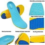 HappyStep® Plantillas de gel con excepcional absorción de impactos y amortiguación en el metatarso y el talón al caminar o correr (Talla L: 41-45 UE)