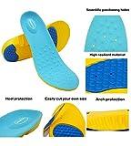 HappyStep® Gel-Einlegesohlen bieten hervorragende Abfederung und Stoßdämpfung für Fußballen und Ferse beim Gehen