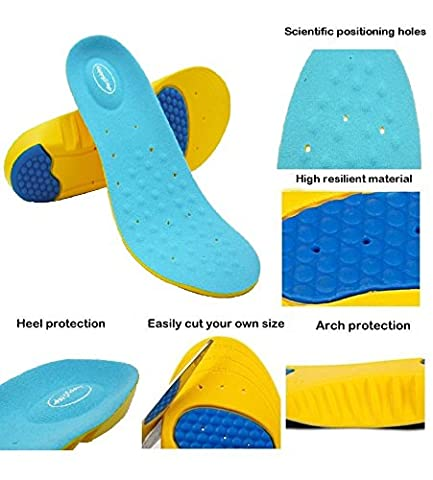 New HappyStep Gel Insoles Provides Outstanding Shock Absorption and Cushioning for Ball of Foot and Heel, Comfort Insoles for Walking, Jogging and Running (UK