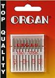 ORGAN Nähmaschinen-Nadeln Flachkolben Universal 130/705 H sortiert 70-100, 10 Stück