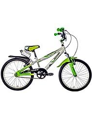 "F.Lli Schiano Runner Bicicleta Horquilla Amortiguada, Blanco / Verde,  20"""