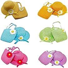 6d613e94bb07d Toyvian Sombrero y Monedero de Sun Party Decorados con Cinta de Girasol  para niñas - 6