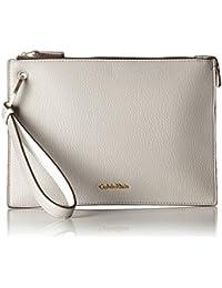 Calvin Klein - Iren3 Pouch Cb, Carteras de mano Mujer, Beige (Surplus), 0.5x19.5x27.5 cm (W x H D)