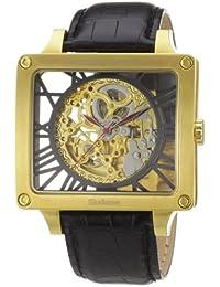 Constantin Durmont Herren-Armbanduhr XL Corral AnalogAutomatik Leder CD-CORR-AT-LT-GDGD-BK