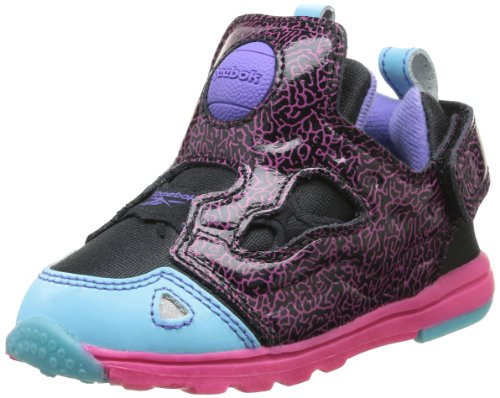 Reebok Versa Pump Fury, Baskets mode mixte bébé Noir (Black/Pink Fusion)