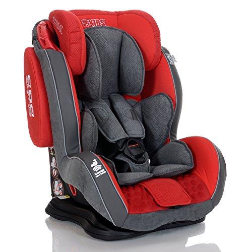 Preisvergleich Produktbild LCP Kids 1110 Saturn Autokindersitz, Gruppe I,II, III, 9-36 kg, rot/schwarz