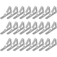 eZAKKA Pinzas de Mantel de 24 Pcs, Clip de Mantel para Mesas de Metal, Pinzas Sujeta Manteles Para Picnic al Aire Libre, Abrazaderas de Metal para Tela de Acero Inoxidable