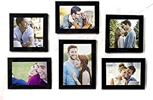 Painting Mantra Classy Memory Wall Photo Frame (Set of 6, Black)