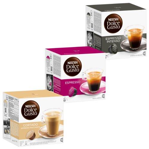 """Nescafé Dolce Gusto Collezione dei """"Fortissimi"""", 3 Varianti di Espresso, 48 Capsule"""