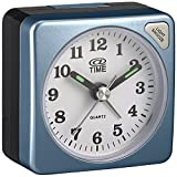 At Time Unisex White Analogue Alarm Clock Plastic A-212 / 7