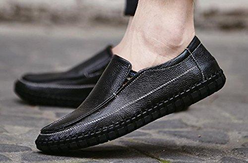 2017 uomini scarpe casual nuova pelle traspirante scarpe di grandi dimensioni cuciti a mano 1