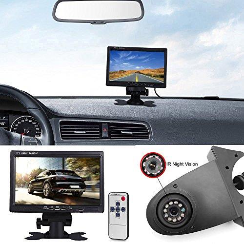 【Rückfahrkamera Transportster+7 Zoll TFT LCD Bildschirm Auto Monitor】 im 3. Bremslicht Bremsleuchte Kamera für Citroen Berlingo Jumper Jumpy Nemo Dacia Dokker Van Nissan Opel Combo Vivaro Ducato -