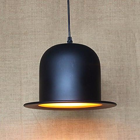 Lbcvh Retro de estilo europeo moderno pueblo simple sombra de cristal de hierro forjado de cáñamo bar comedor lámpara de arañaUna fuente de luz de techo ,40W