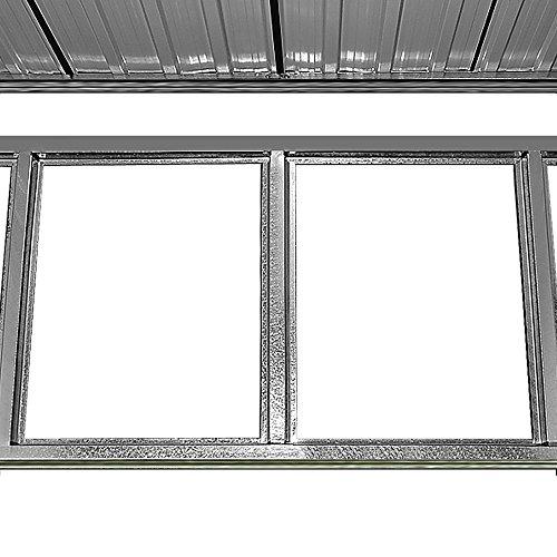 Gerätehaus Metall verzinkt 3,35m³ inkl. Schiebetüren und Fundament Geräteschuppen Gartenhaus Metallgerätehaus -