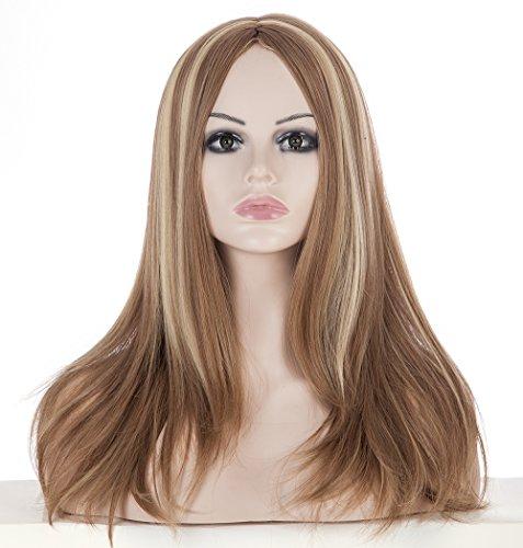 Spretty Damen Charming Blonde Mixed Brown 2 Töne Lange lockige Perücke für Tägliches Kleid und (Kostüm Khaleesi Kleid)