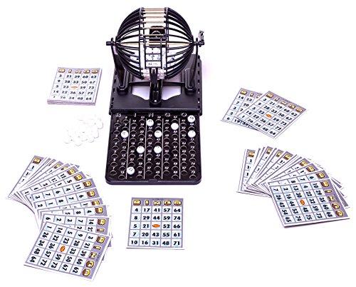 Preisvergleich Produktbild Bingo Set mit 60 Karten und 96 Bingo Bällen - Limited Edition