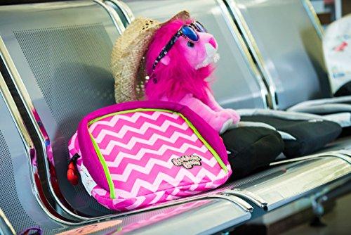 BubbleBum Travel Car Booster Seat, Pink Chevron