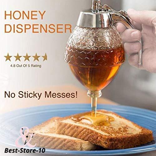 Yeehao Kristall Honig Spender Transparent ABS Honig Aufbewahrung Behälter Flasche